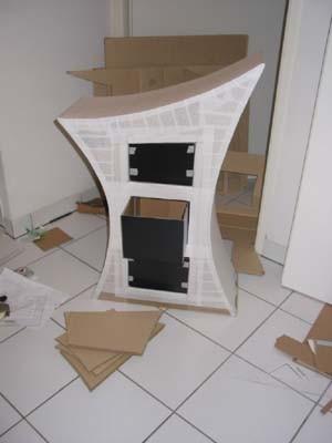 بيت من الكرتون مشروع لبنتى للمدرسة بالصور