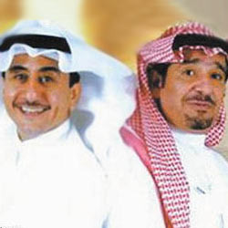 الممثل عبدالله السدحان والممثل ناصر القصبي راجـــــــــي